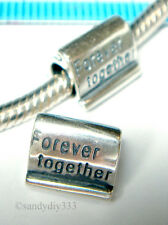 1x STERLING SILVER FOCAL FOREVER EUROPEAN BRACELET CHARM SPACER BEAD 9.4mm #1208