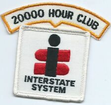 Interstate System 20,000 hour club truck driver patch 3-3/8X3-7/8X 2-1/2