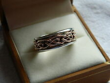 Clogau Silver & Welsh Gold Mens Annwyl Ring size U RRP £300.00