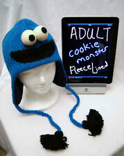 deLux Adult COOKIE MONSTER HAT knit animal  toque FL LINED Sesame Street Costume