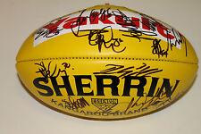 ESSENDON  TEAM SIGNED YELLOW SHERRIN FOOTBALL UNFRAMED (SPONSOR : YAKULT)