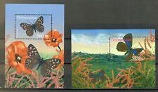 Turkmenistan - Schmetterlinge 2002 (postfrisch / ** / MNH) Block 20 / 21