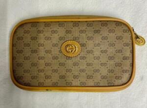 Vintage Authentic Gucci Accessory Cosmetics Bag