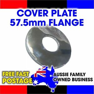 New - Round Chrome Brass Cover Plate Shower Flange (57.5 x 57.5mm & 21.5mm ID)
