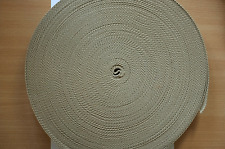 Cotton Polyester Webbing, Belt, Bag, Straps, Khaki, 25mm wide, 1 Metre