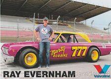2016 Ray Evernham Valvoline Marty Robbins Plymouth Belvedere PRI NASCAR postcard