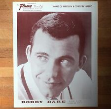 authentic Bobby Bare press photo from Mpls Flame Cafe