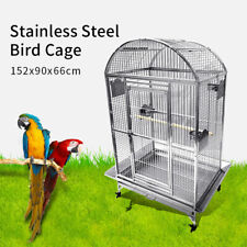 SUS201 Stainless Steel Parrot Cage 90x66x175cm Play Top Bird Cage Big Macaw
