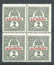 Hungary 1916 Sc# E1 Special delivery block 4 MNH