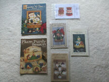 Tole Painting Patterns -2 Pb Books + 4 Packets - Santa Gingerbread Snowman Witch