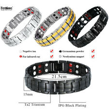 Hottime Pure Titanium Magnetic Far Therapy Negative Ion Bracelet Pain Relief US