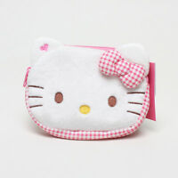 Licensed 14Cm Sanrio Hello Kitty Plush Toys Soft Doll Card Coin Key Holder Pouch