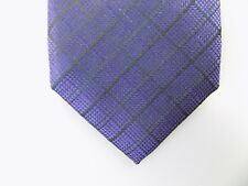"RYAN SEACREST $115 MEN Purple Plaids & Checks Skinny WIDTH 3"" NECK TIE SILK  P13"
