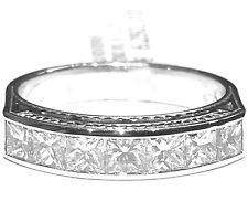 anello veretta in platino 950/000 diamanti taglio princess ct 1,15 colore F VVS1