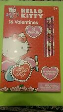 Hello Kitty 16 valentine cards and 16 pencils, lot of two boxes