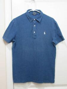 Polo Ralph Lauren Indigo Featherweight Mesh Polo shirt Medium EUC!