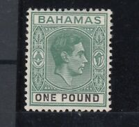 Bahamas KGVI 1938 £1 Green SG157 MLH JK2099