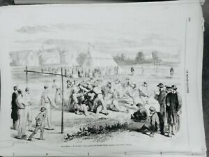 1867 Mid England Football Game National Winter Sketches E. Gate