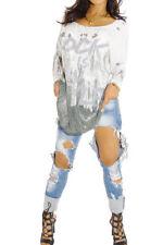 Maglie e camicie da donna maniche a 3/4 rosa con girocollo