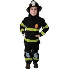 DELUXE FIRE FIGHTER SET FIREMAN CHILD HALLOWEEN COSTUME BOYS SIZE MEDIUM 8-10