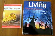 Martha Stewart Living Magazine Halloween + Classic Thanksgiving Cooking DVD