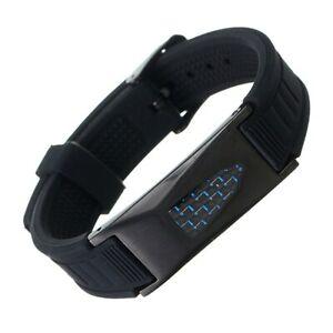 7-in-1 Titanium Magnetic Energy Armband Healthy Bio Bracelet Silicone Belt Black