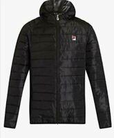 FILA Mens' Pavo Quilted Jacket - Black - Size: UK LARGE