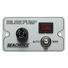Bilge Pump Control Switch for Boats - Automatic, Off and Manual Switch Positions