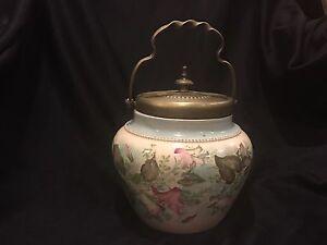 W. Wood & Company Albert Street Works, Burslem  Vintage  Biscuit Jar