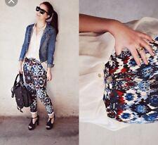 Zara tribal aztec printed pants trousers M Medium Multi Coloured blogger fave