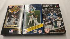 Lot of 3 New York Yankees World Series VHS Video Cassette Tape