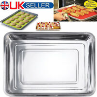 45cm Stainless Steel Baking Trays Large Tray Bake Containers Oven Roasting Tin
