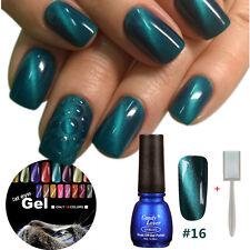 1PCS Cat Eye Magnet Gel Nail Polish  Green Lacquer + Free Magnetic Stick #016