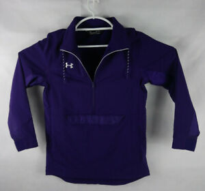 Under Armour Cold Gear PURPLE Pullover Jacket 1/2 ZIP Mens Size smal MSRP $90
