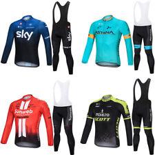 Men's Cycling Apparel Bicycle Softy Jersey Long Sleeve Coat Top Bib Pants Sets