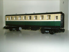 Lego Train - Custom Passenger Coach - Dark Green - New - Emerald steam 10194
