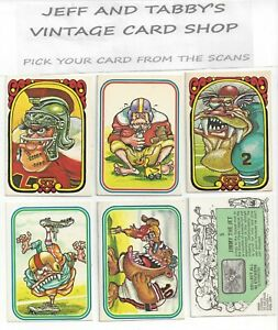 1974 DONRUSS FOOTBALL SUPER FREAKS SERIES 2, 1 TO 42 YOU PICK FROM SCANS