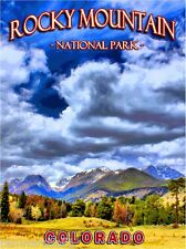 Rocky Mountain National Park Colorado United States Travel Advertisement Poster