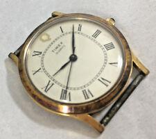 "Align 17 Marks Timex Quartz Wrist Watch No Band Roman Numerals M 1 1/4"" FACE"