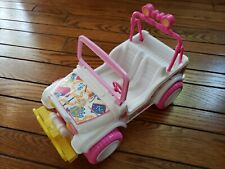 1987 Rare Barbie Party Blast White Dream Jeep Arco Mattel with Pink tires!
