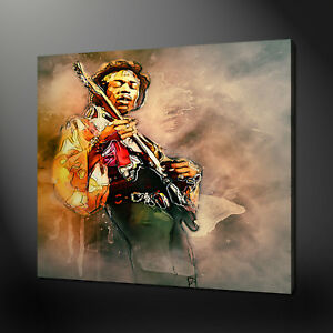 JIMI HENDRIX CANVAS PICTURE PRINT WALL ART MODERN DESIGN FREE FAST DELIVERY