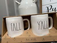 NEW Rae Dunn Fall Yall Mug Set Of 2 Thanksgiving Fall