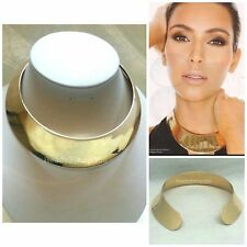 Choker Necklace Metal Gold Collar Statement Wide Thick Fashion Bib Punk Chunky