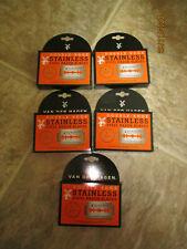 Van Der Hagen Stainless Steel Double Edge Razor Blades, 25 Blades NEW