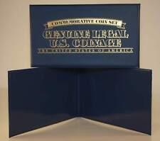 Lot of 2 Currency Bill Holder Folio Folder Albums holds 2 Bills or Coins