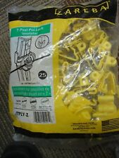 Zareba Systems T-Post Pin-Lock Insulator 25 ct Yellow