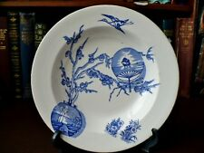 19th c Davenport & Co Longport Blue & White Bowl - Oriental Fan Pattern