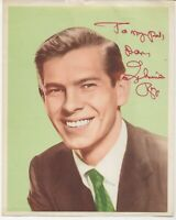 Personalized autographed picture of 1950s singer Johnnie Ray (Cry)