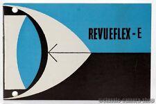 """REVUE Bedienungsanleitung """" REVUEFLEX - E """" User Manual Kamera Anleitung (X2150"""