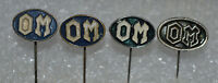 OM Officine Meccaniche truck LKW ITALY vtg pin badges distintivo 4 different